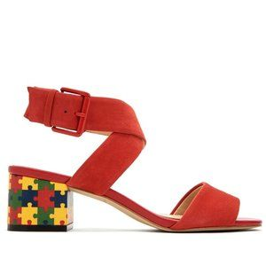 Katy Perry Red Margo Puzzle Strap Sandals Size 8